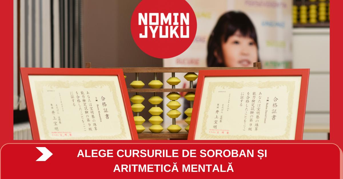 Încep înscrierile la cursuri pentru copii. Alege soroban și aritmetică mentală la Centrul Educațional Japonez Nomin Jyuku